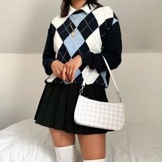 Indie Outfits, Cute Casual Outfits, Retro Outfits, Vintage Outfits, Preppy School Outfits, School Skirt Outfits, Stylish Outfits, Teenager Outfits, Outfits For Teens