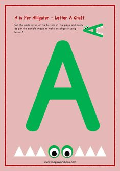Alphabet Writing Practice, Alphabet Tracing Worksheets, Teaching Letters, Preschool Letters, Letter Activities, Hands On Activities, Craft Activities, Printable English Worksheets, English Worksheets For Kindergarten