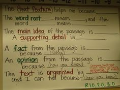 ELL sentence frames #2. Use as a reference for oral/written responses. Poster goes above white board so it's easy to refer to.