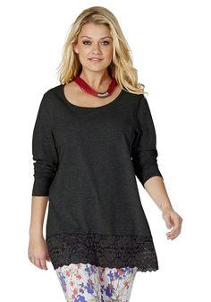 Typ , Longshirt, |Materialzusammensetzung , 95% Baumwolle, 5% Elasthan. Spitze: 90% Polyamid, 10% Elasthan, |Gesamtlänge , Größenangepasste Länge von 76 cm bis 84 cm, | ...