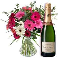 Buy champagne and flowers online with free UK week day . Happy Birthday Flowers And Champagne