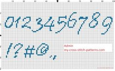 Вышивка крестом алфавит цифры шрифт Приштиной и специальные символы