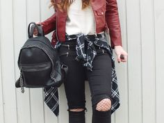Fashion Love: LEATHER JACKET*, BEANIE & STUDDED BOOTS* | WANDERLUST