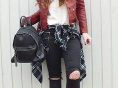 Fashion Love: LEATHER JACKET*, BEANIE & STUDDED BOOTS* | WANDERLUST