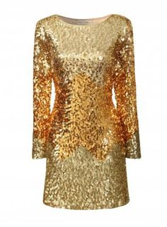 SERENA - GOLD SEQUIN OMBRE DRESS on The Hunt