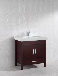 Melange 32 Inch Warm Brown Vanity