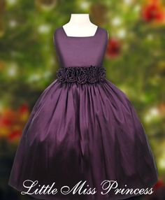 Details about IVORY PLUM PURPLE WEDDING FORMAL TULLE CHILD FLOWER ...