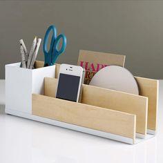 Modern Wooden Desk Caddy  by Dot & Bo