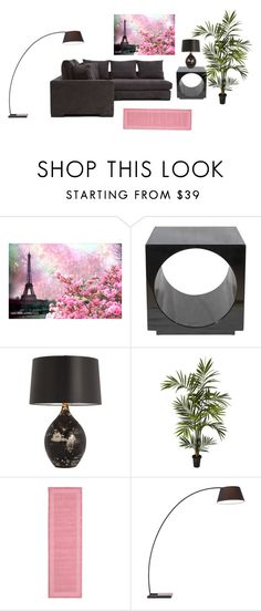 """""""living room"""" by unrise ❤ liked on Polyvore featuring interior, interiors, interior design, home, home decor, interior decorating, WALL, Andrew Martin, Arteriors and Nearly Natural"""