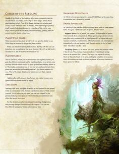 Druid Subclass: Circle of the Seedling