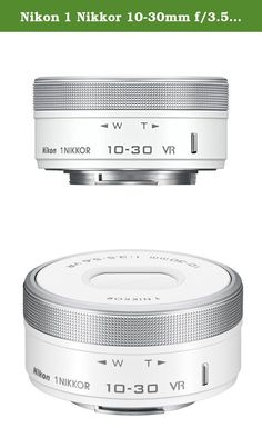 Nikon 1 Nikkor 10-30mm f/3.5-5.6 PD-Zoom Lens (White) [White Box]. The Nikon 1 NIKKOR VR 10-30mm f/3.5-5.6 PD-ZOOM Lens is a standard zoom lens for Nikon 1 CX-format digital cameras. It offers a 35mm equivalent focal length of 27-81mm and a variable aperture of f/3.5-5.6, making this a good wide angle to medium telephoto option for everyday shooting. Also, it features a Power-Drive zoom which is a fast quiet zoom control with adjustable speed, useful for smooth video shooting. For clearer...