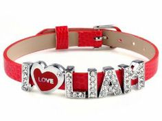 I love Liam I love ID one direction member red bracelet link cuff bangle fashion jewelry imixlot. $5.99
