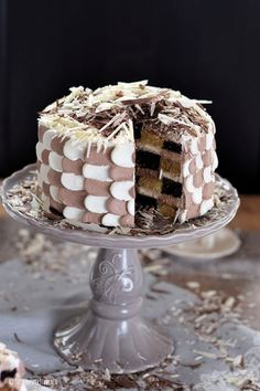 Eine Mustertorte: Marzipan-Schokolade-Torte