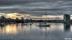 Harbour in #Vancouver, BC. Canada. #sailboats #sunsetphotography by Ernie Kasper