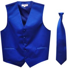 Royal Blue Vest and Tie for Groomsmen...