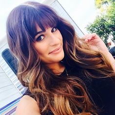 13 Lea Michele Bangs Styles That Prove She Has The Best, Most Versatile Fringe In The Biz