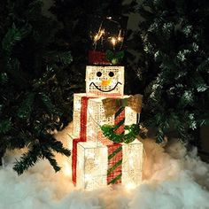 Kingfisher Indoor Square Snowman Christmas Light Figure Decoration - 75 Centimetre Tall. Buy it now by clicking on the picture. Only 26.64£.