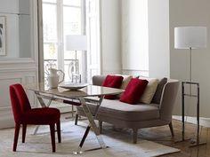 CLM - beau canape beau fauteuil belle harmonie des couleurs taupe + rouge FM - jolie harmonie mais complique d'avoir tout en maxalto + préfère canapé avec accoudoirs + coûte un bras ;)