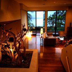 #interiordesign ghostwood tree installation #livingroom #beachouse #delMar #vacationrental