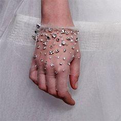 Crystal Studded Gloves
