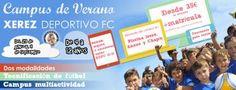 Campus de Verano Xerez Deportivo FC. Dos modalidades: tecnificación de fútbol o campus multiactividad