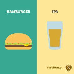 Abbinamento Hamburger + IPA #ABBIrrAMENTI