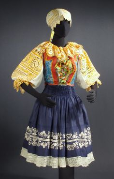 Folk Embroidery Ideas Traditional clothes for the Piestany region of Slovakia - Costume Shop, Folk Costume, Bratislava, Ethnic Fashion, Fashion Art, Folk Fashion, Rare Clothing, Folk Clothing, Vintage Clothing