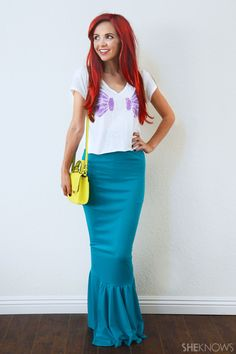 Easy DIY Ariel Halloween Costume