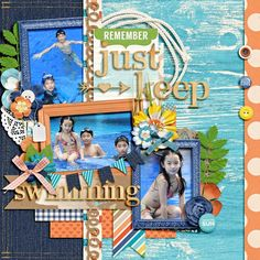"""""""This layout was created for the Sweet Shoppe Summer Shadowbox contest - come join the digital scrapbooking fun at SweetShoppeDesigns.com!"""" credits : set 168 by cindy schneider memorable : staycation by kristin cronin-barrow & zoe pearn"""