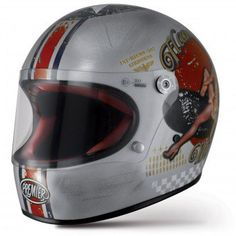 Retro Motorcycle Helmets, Motorcycle Outfit, Pin Up, Cafe Racer Casco, Motos 125cc, Vintage Helmet, Moto Cafe, Helmet Paint, Motorcycle Helmets