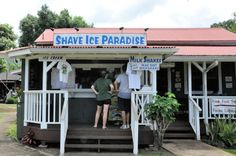 Can't wait to eat shave ice with Macadamia nut ice cream on the bottom when I reach my goal weight. Loved this place in Kauai.