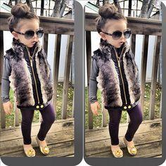 Fashionkids - Fashion kids - By Laya_amayaworld Fashionkids . Fashion Kids, Stylish Kids Fashion, Fashion Vest, Fashionable Kids, Young Fashion, Little Girl Outfits, Little Girl Fashion, Toddler Outfits, Stylish Little Girls