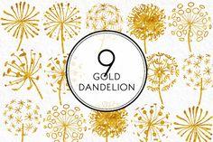 Gold Dandelion by Kaazuclip on Creative Market