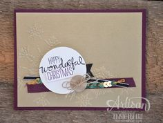 Stampin' Dolce: Wonderful Christmas Card - Dolce 12 days of Christmas
