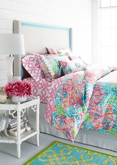 Lilly Pulitzer® Sister Florals Duvet Cover Collection from Garnet Hill. Saved to Home thingsss. Decor, Bedroom Inspirations, Room Inspiration, Interior, Bedroom Decor, Girl Room, Preppy Bedroom, Home Decor, Room Decor