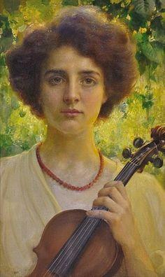 Portrét virtuosky by Frantisek Dvorak