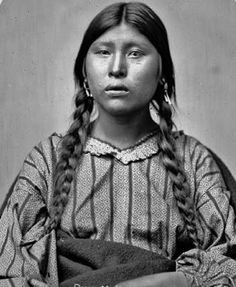 Wife of Tuc-a-picish-te-ruk, aka Prairie Chicken &/or Gives to the Poor Pawnee, 1868