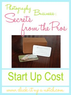 Photography Business: Start up cost