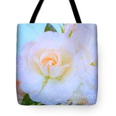 Light Roses Tote Bag by Clare Bevan #clarebevan #clarebevanphotography #clarebevanrosecollection #clarebevantotebags