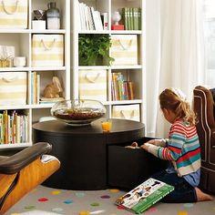 Kids Storage: Striped Cube Storage Bins | The Land of Nod