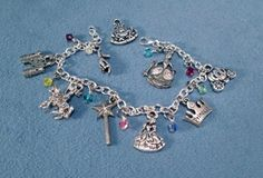 Fairy Tale Princess Silver Charms Bracelet Magic Wand Fairy Godmother    OrrWhat - Jewelry on ArtFire