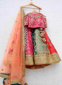 Sabyasachi Bridal Gowns Lehenga Choli New Ideas Pakistani Gowns, Indian Bridal Lehenga, Indian Bridal Wear, Red Lehenga, Lehenga Choli, Sabyasachi, Lehenga White, Floral Lehenga, Lehenga Wedding