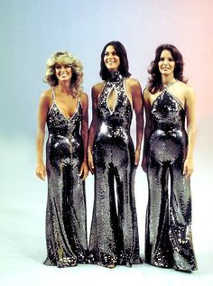 Charlie's Angels, sporting sparkly 1970s jumpsuits. Which Angel was your fav?