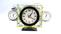 Vintage mechanical clock. Retro USSR  clock. by VintageLittleGems