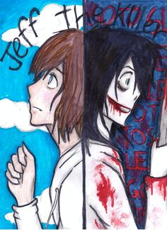 jeff the killer two faces by NENEBUBBLEELOVER.deviantart.com on @deviantART