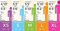 bike size chart — Machine Bicycle Co.