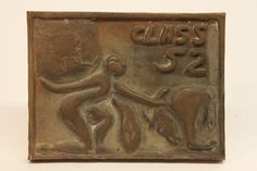 Class of 1952 bronze time capsule cover
