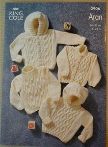 Babies Aran Cardigans & Jumpers Aran Knitting Pattern