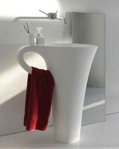 Coquetísimo lavabo, y ¡práctico!