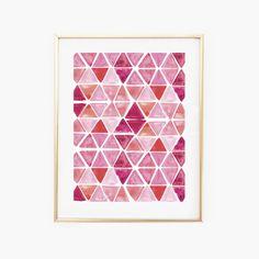 Geometric Watercolor PrintInstant DownloadNursery Wall
